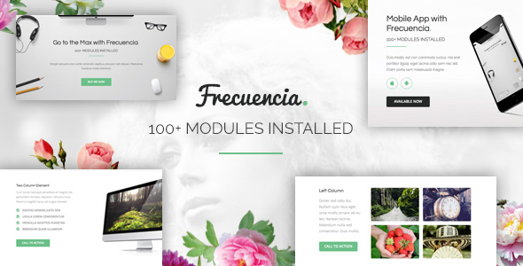 Frecuencia – 100+ Modules – Email + Online Template Builder