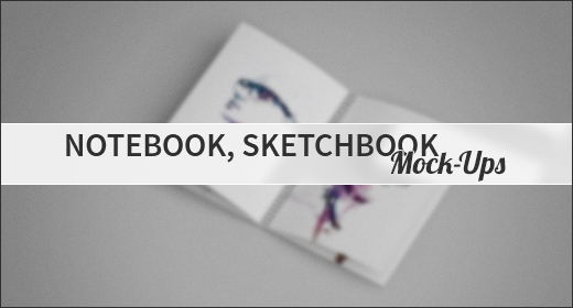Notebook, Sketchbook Mock-Ups