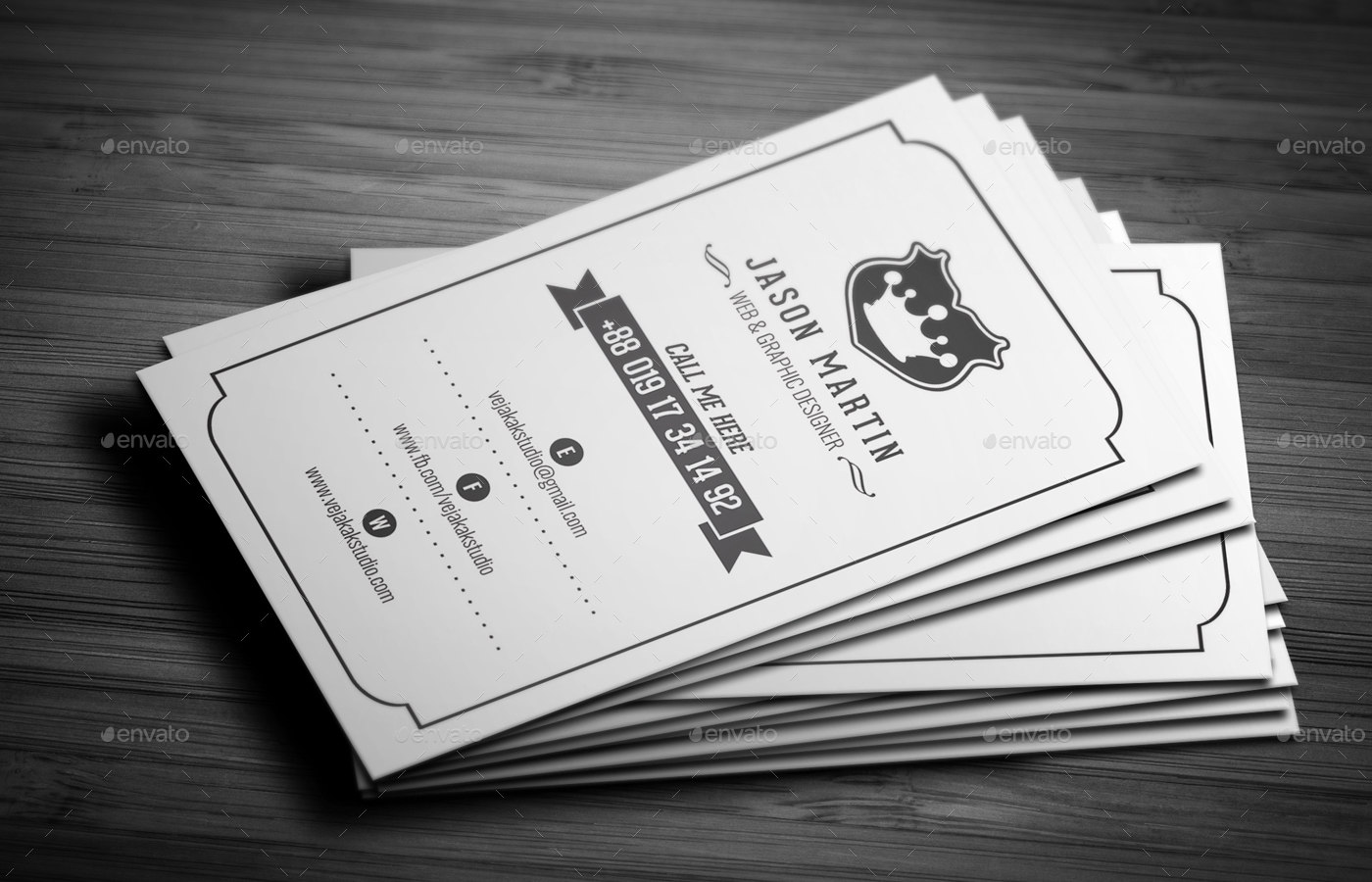 Vintage business card by vejakakstudio graphicriver vintage business card reheart Choice Image
