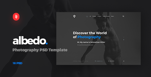 Albedo – Photography PSD Template