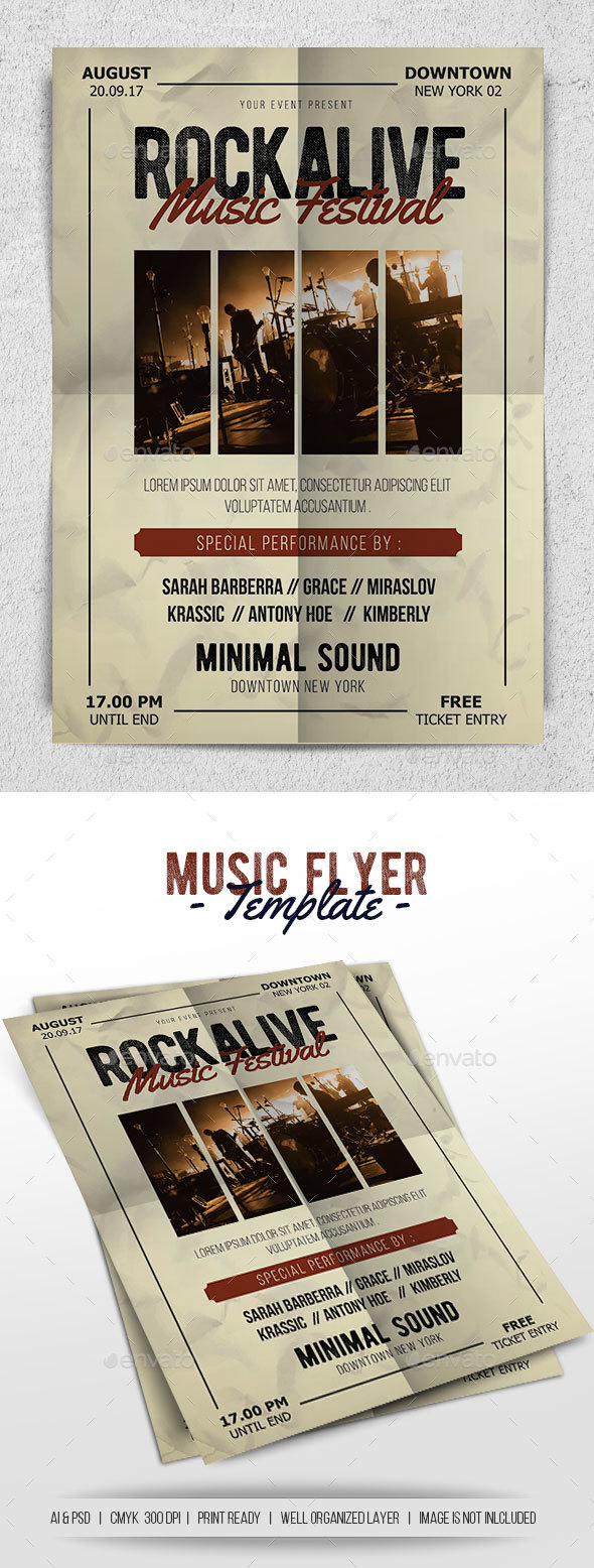 Music Flyer - Concerts Events