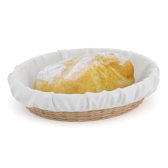 Bread in Wicker Basket - 3DOcean Item for Sale