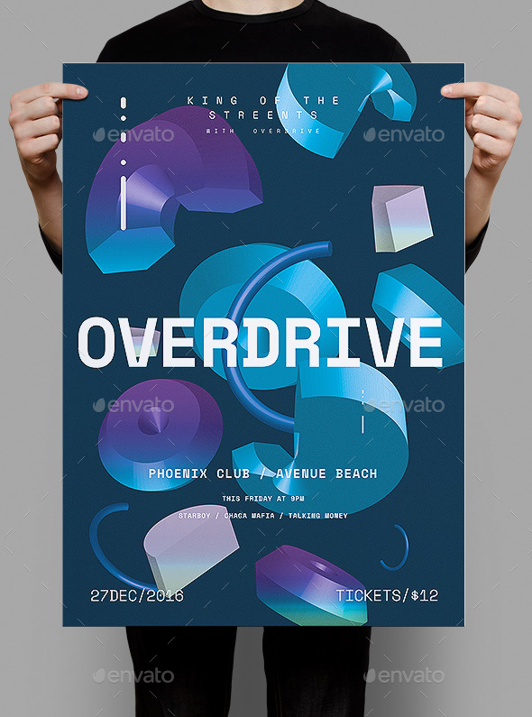 Overdrive Poster / Flyer - Clubs & Parties Events