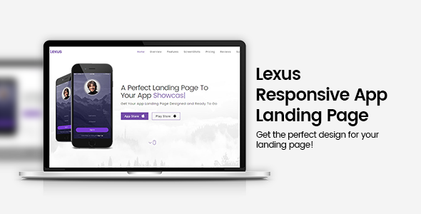 Lexus Responsive App Landing Page - Apps Technology