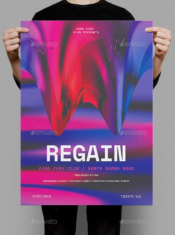 Regain Poster / Flyer - Clubs & Parties Events