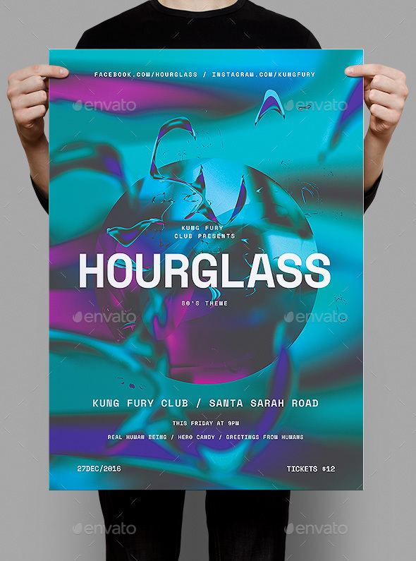 Hourglass Poster / Flyer - Clubs & Parties Events