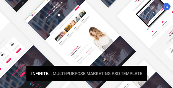 Infinite – Marketing PSD Template