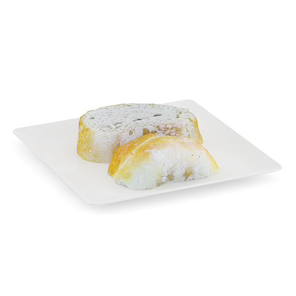 Sliced Bread on White Plate - 3DOcean Item for Sale