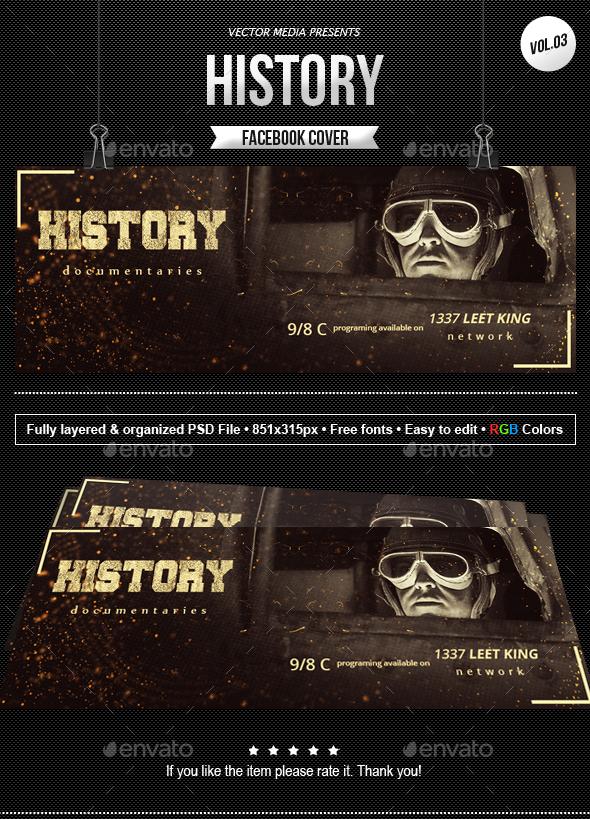 History - Facebook Cover [Vol.3] - Facebook Timeline Covers Social Media