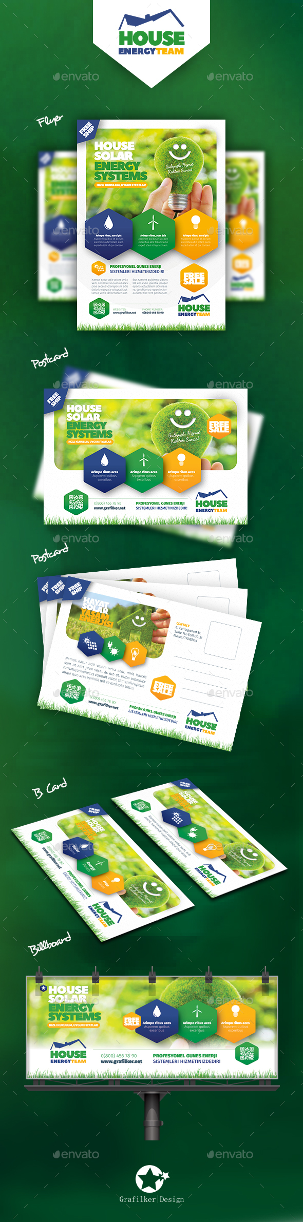 Solar Energy Bundle Templates - Corporate Flyers