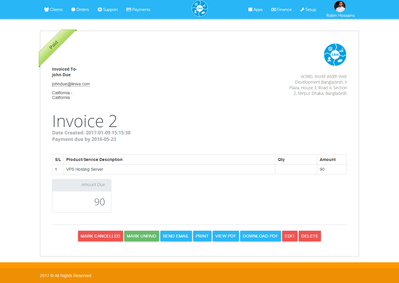 Crm Ticketing Sales Products Client And Business Management