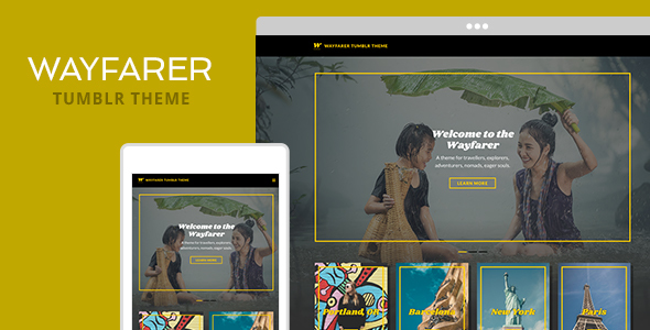 Wayfarer Tumblr Theme - Blog Tumblr