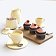 Strawberry cupcakes set - 3DOcean Item for Sale