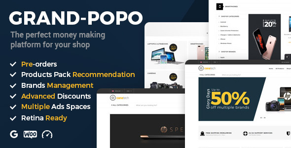 Grand Popo – Best Woocommerce Theme for Electronics, Phones, Computers Stores & Mega Shops