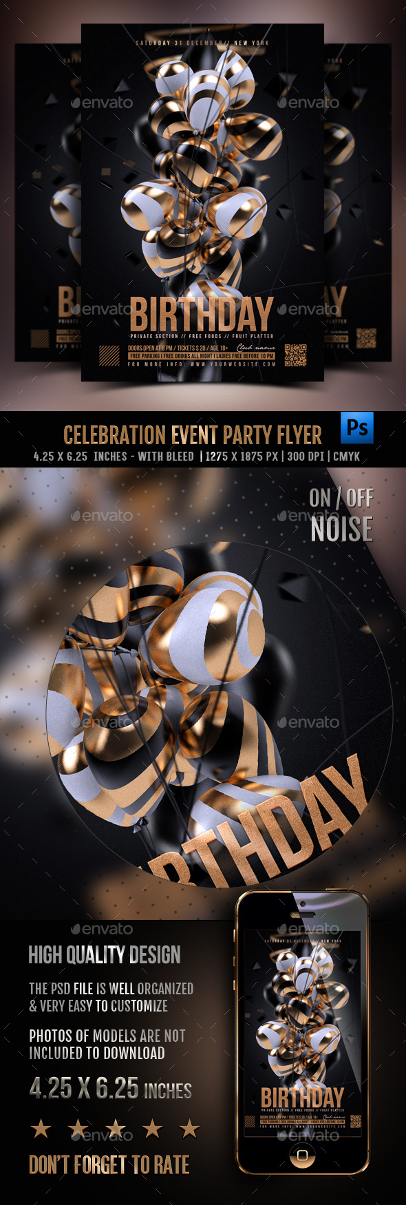 Celebration Event Party Flyer - Clubs & Parties Events