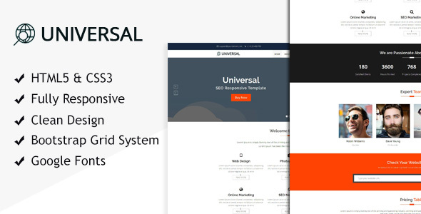Universal SEO - HTML Template for SEO