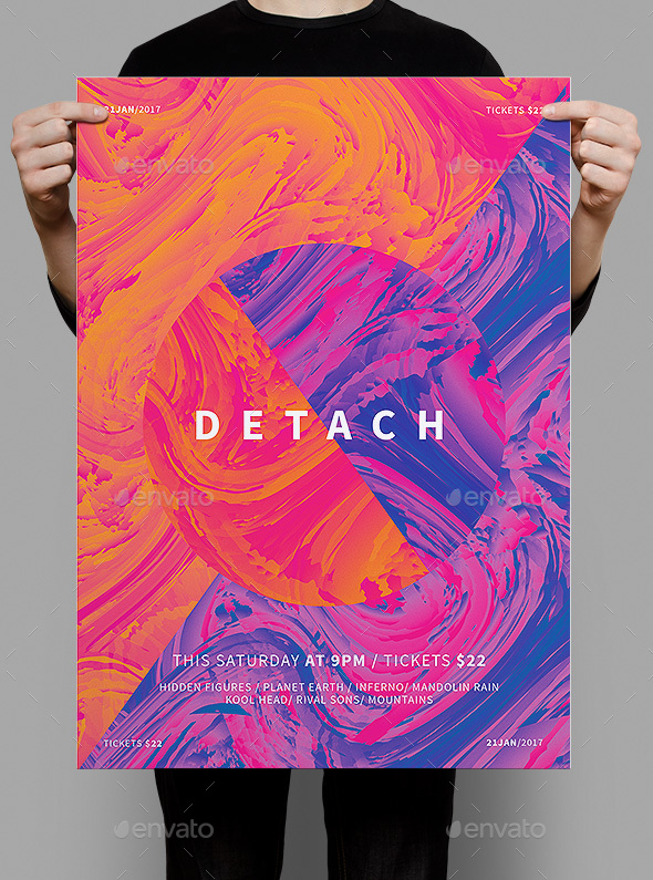 Detach Poster / Flyer - Clubs & Parties Events