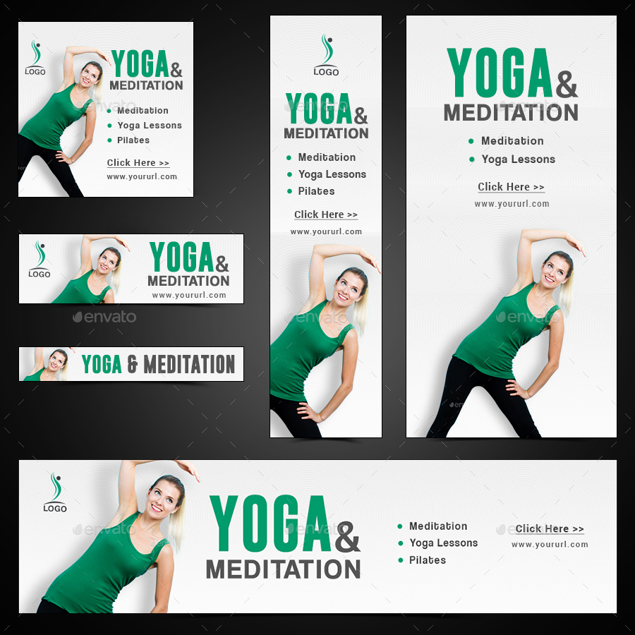 Yoga Meditation Banners By Doto