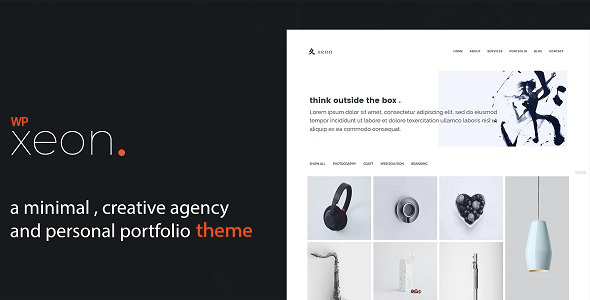 Xeon – .WordPress Minimal Portfolio Theme