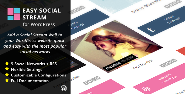 Easy Social Stream for WordPress - CodeCanyon Item for Sale