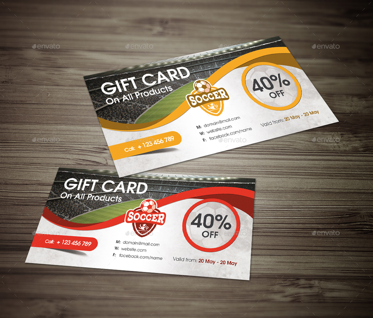 Soccer Gift Card by Arkadio | GraphicRiver