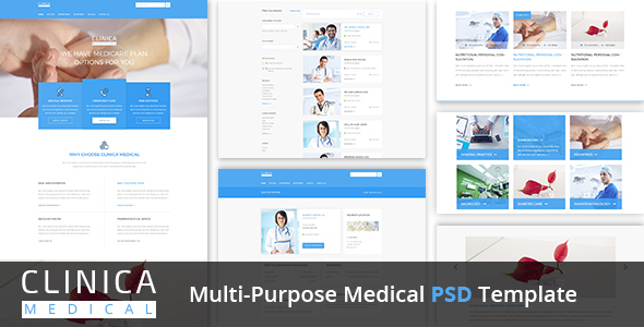 Clinica Multi-Purpose Medical PSD Template