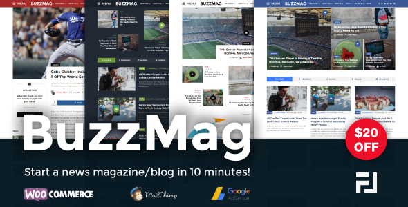 BuzzMag – Viral News WordPress Magazine/Blog Theme