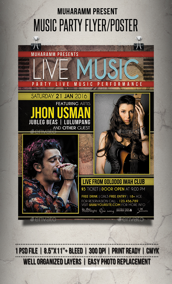 Music Party Flyer / Poster - Events Flyers
