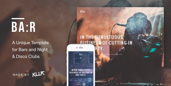 Image of BA:R - Unique Bar, Night & Disco Club Template