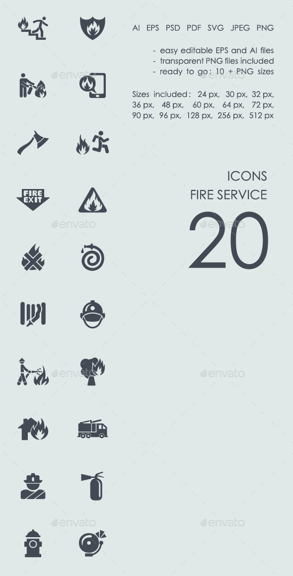 Fire service icons - Business Icons