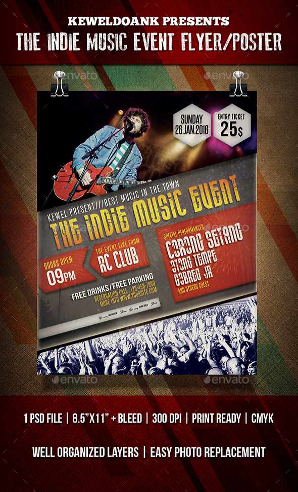 Indie Music Event Flyer /Poster - Events Flyers