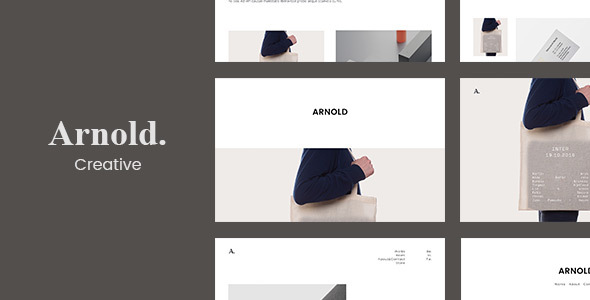 Arnold. –  Minimal Portfolio WordPress Theme