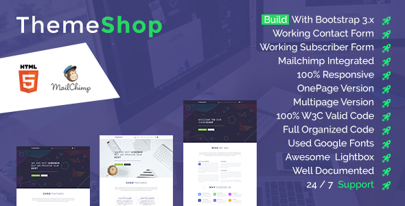 ThemeShop – One Page & Multi Page HTML5 Template