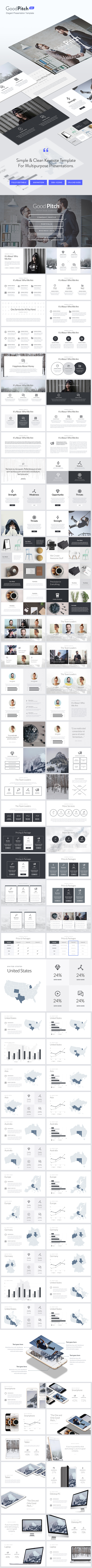 Good Pitch - Elegant Keynote Template - Keynote Templates Presentation Templates