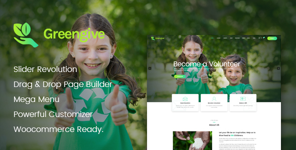 Image of Greengive | Fundraising & Charity WordPress Theme