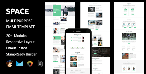 Space – Multipurpose Responsive Email Template + Stampready Builder
