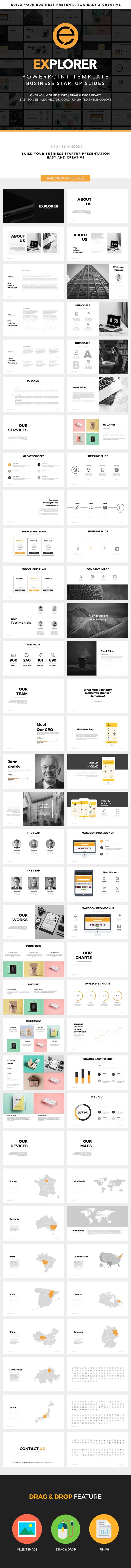 Explorer Powerpoint Template - Business PowerPoint Templates