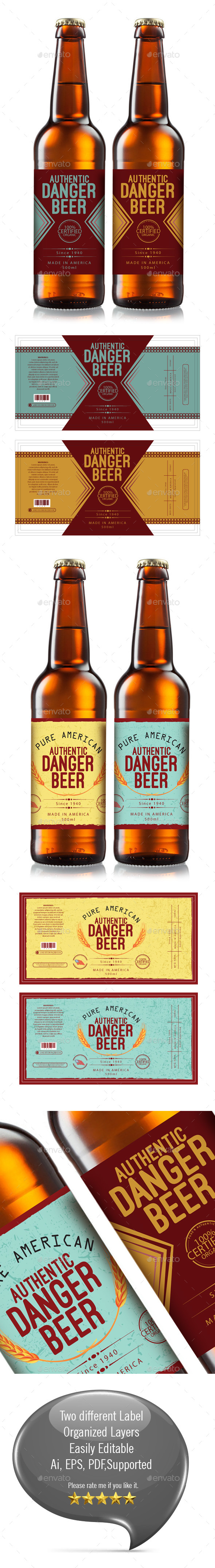 Beer Label Template - Packaging Print Templates