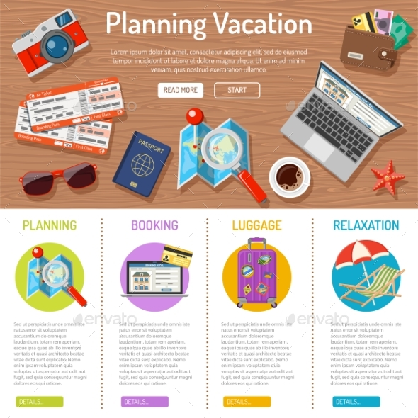 Planning Vacation Infographics - Travel Conceptual