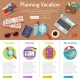 Planning Vacation Infographics - GraphicRiver Item for Sale