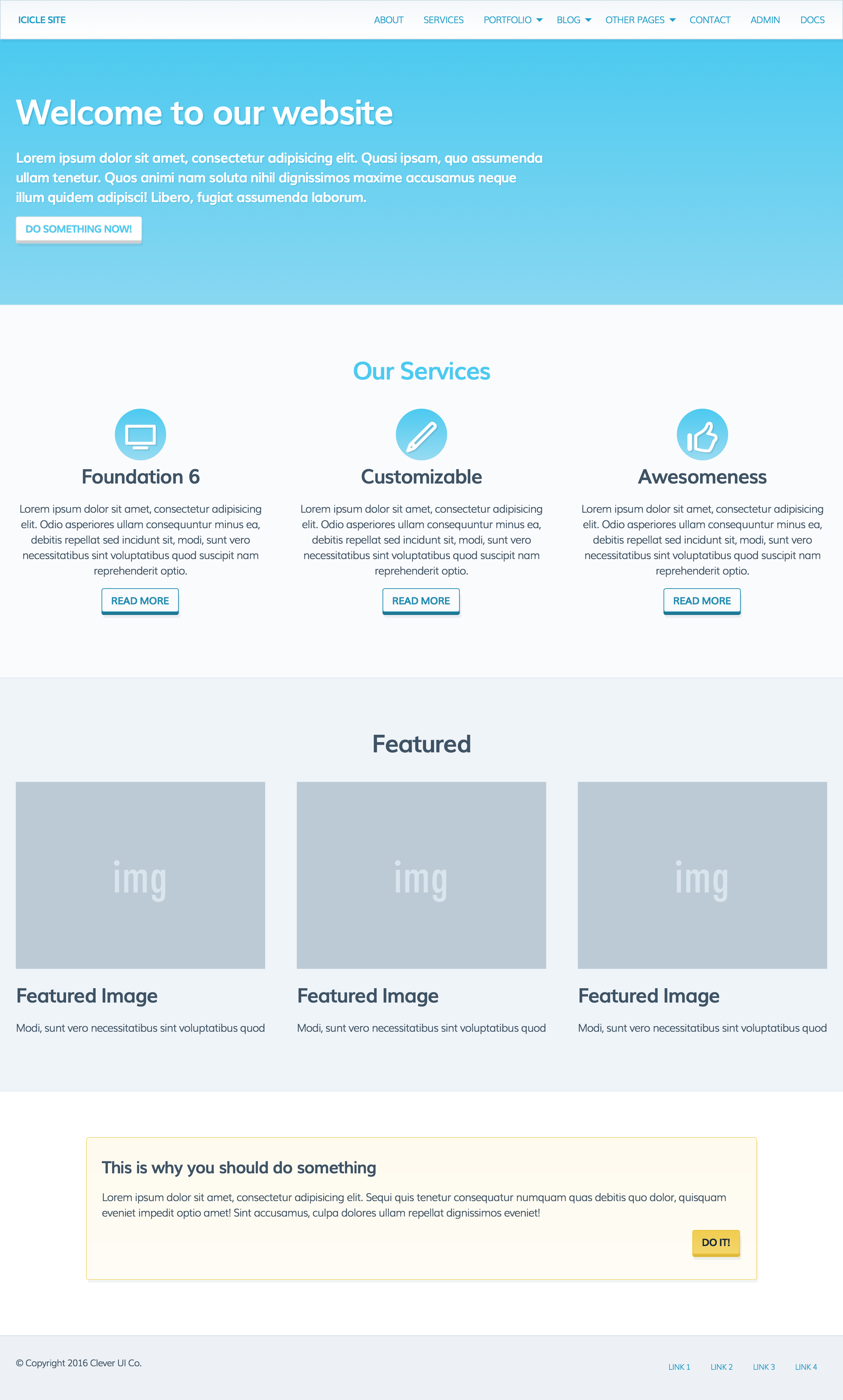 Icicle UI Kit for Zurb Foundation 6 by clever_ui   CodeCanyon