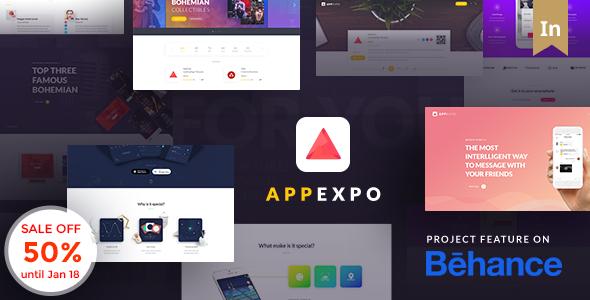 App Landing Page WordPress Theme (App Showcase, App Store) – App Expo