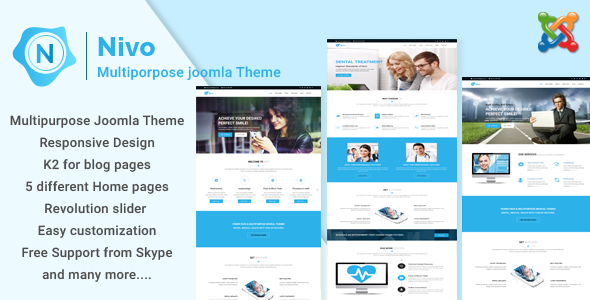 Nivo - Responsive Multi-Purpose Business Joomla Theme - Corporate Joomla