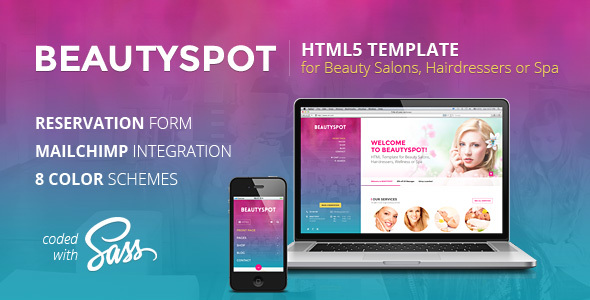 BeautySpot - HTML Template for Beauty Salons - Health & Beauty Retail