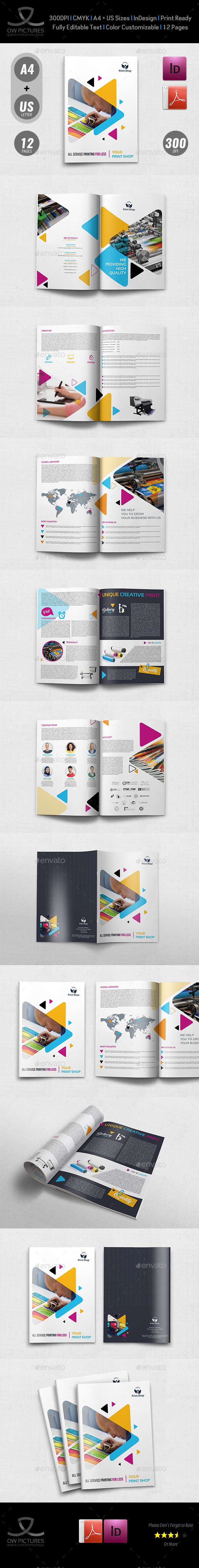 Print Shop Brochure Template - 12 Pages - Brochures Print Templates