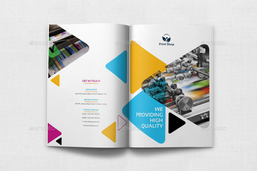 print shop brochure template 12 pages