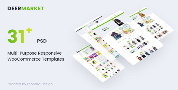 DeerMarket | Multi-Purpose Responsive Ecommerce PSD Template