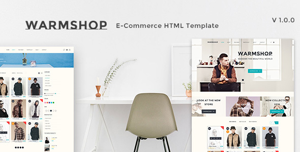 Warmshop Minimal e-Commerce Html Template