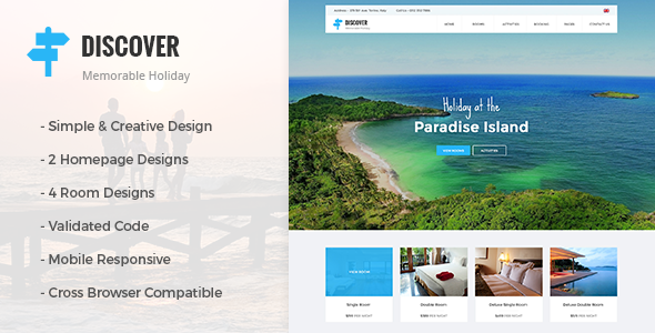 DISCOVER Location - Beach, Holidays, Hotel & Resort Responsive Theme - Miscellaneous WordPress