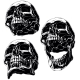High Detailed Cool Black Human Skull Set - GraphicRiver Item for Sale